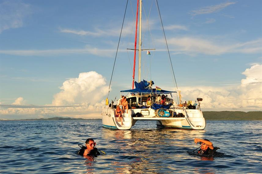 Diving from Oceane's Dream Catamaran Madagascar