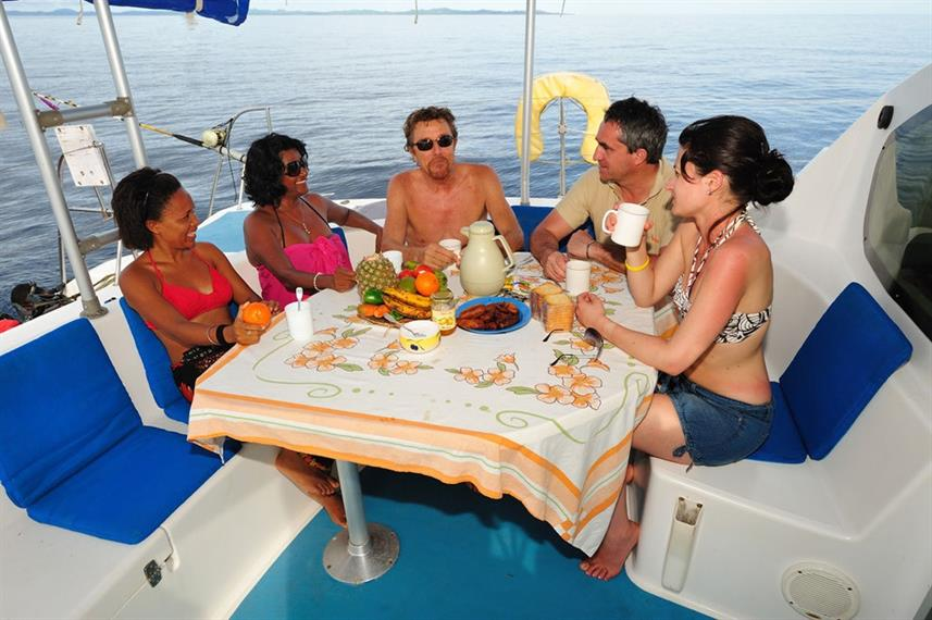 Outdoor Dining - Oceane's Dream Catamaran