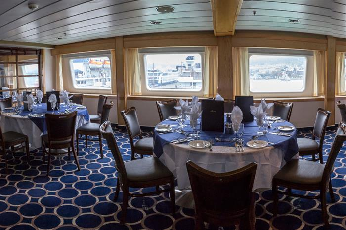 Antarctica Expedition Ship Interior Dining Room