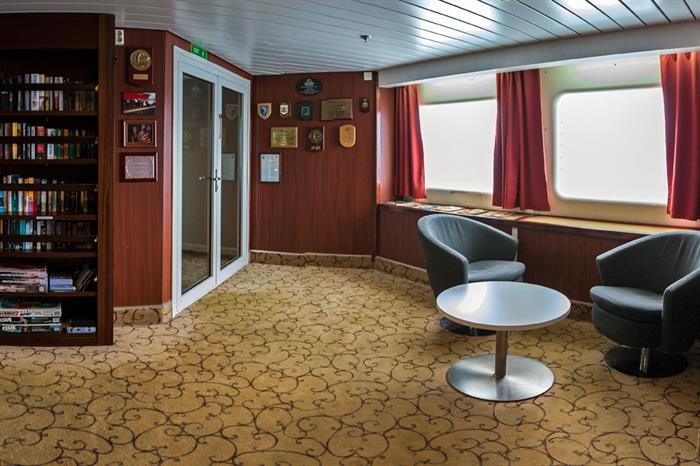 Antarctica Expedition Ship Interior Library