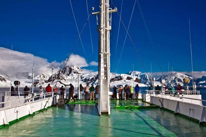 Antarctica Expedition Ship On Board Travellers