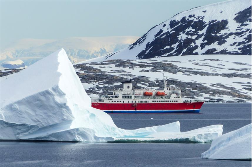 Antarctica Iceberg Mountain - MS Expedition Ship