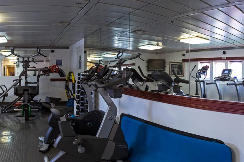 Arctic Expedition Ship Interior Gym