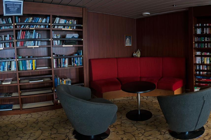 Arctic Expedition Ship Interior Library