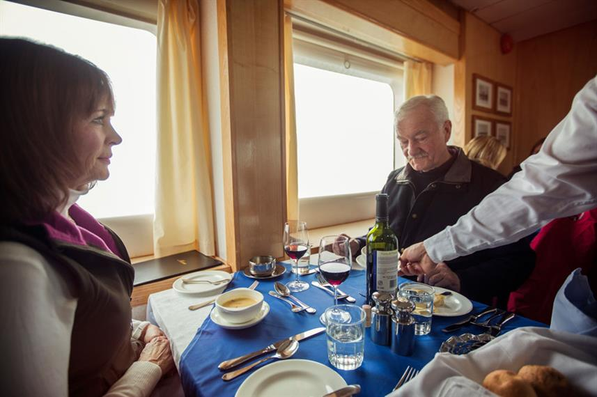 Antarctica Expedition Interior Dining Room
