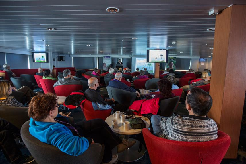 Arctic Expedition Ship Interior Discovery Lounge Presentation Passengers