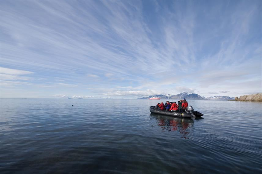 Arctic Expedition Zodiac Water Skyline