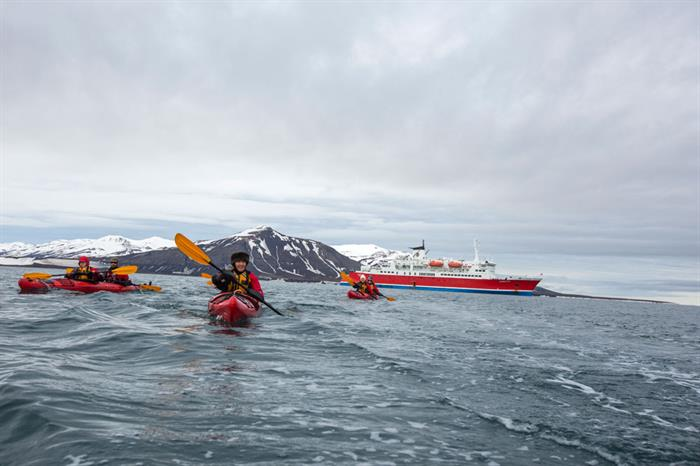 Arctic Svalbard Sea Kayaking Expedition Ship