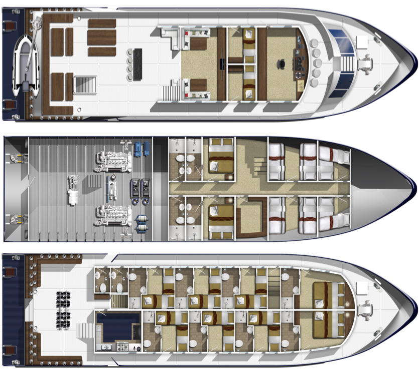 Bavaria Deck Plan floorplan