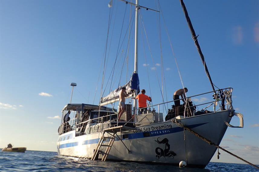 Sailing at Coral Sea Dreaming Australia
