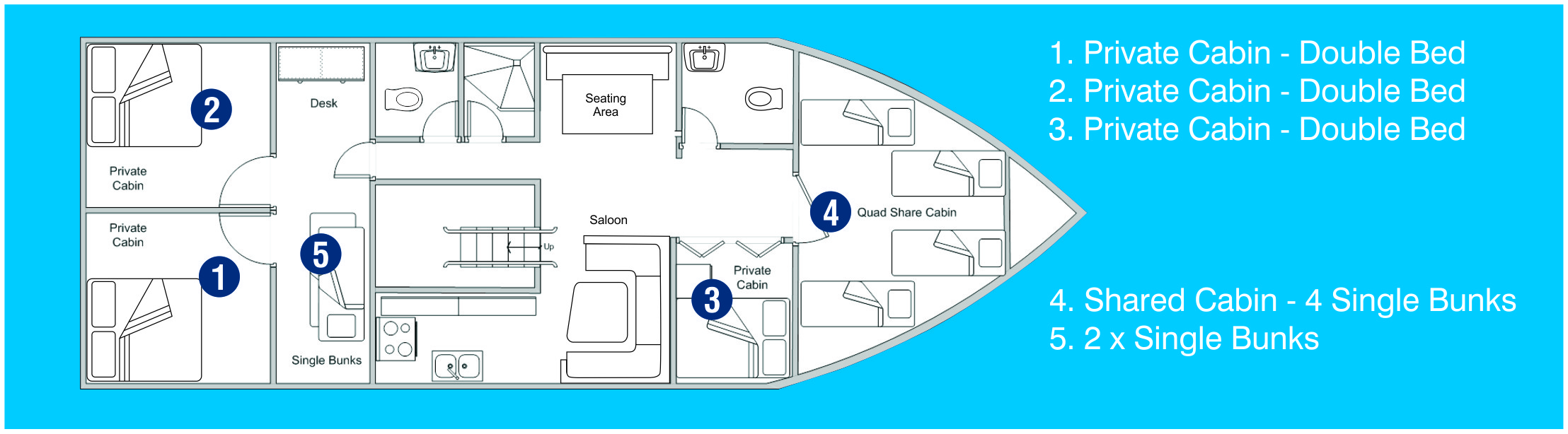 Deck Plan - Coral Sea Dreaming Australia floorplan