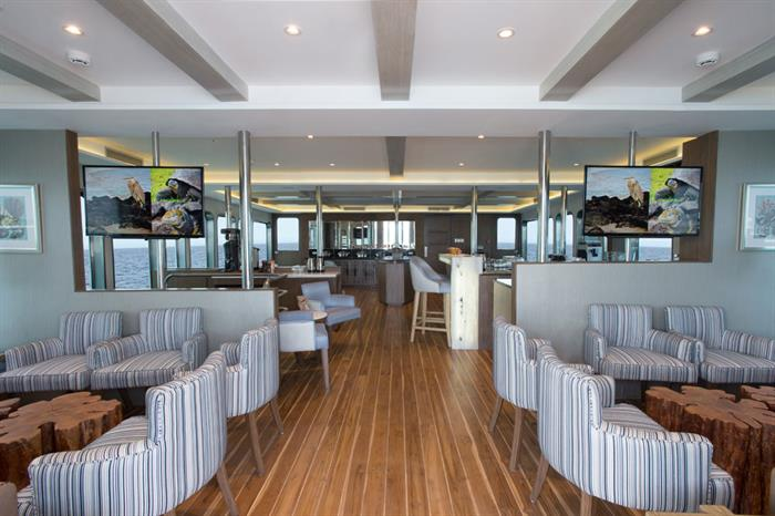 Dining area - Origin cruise Galapagos