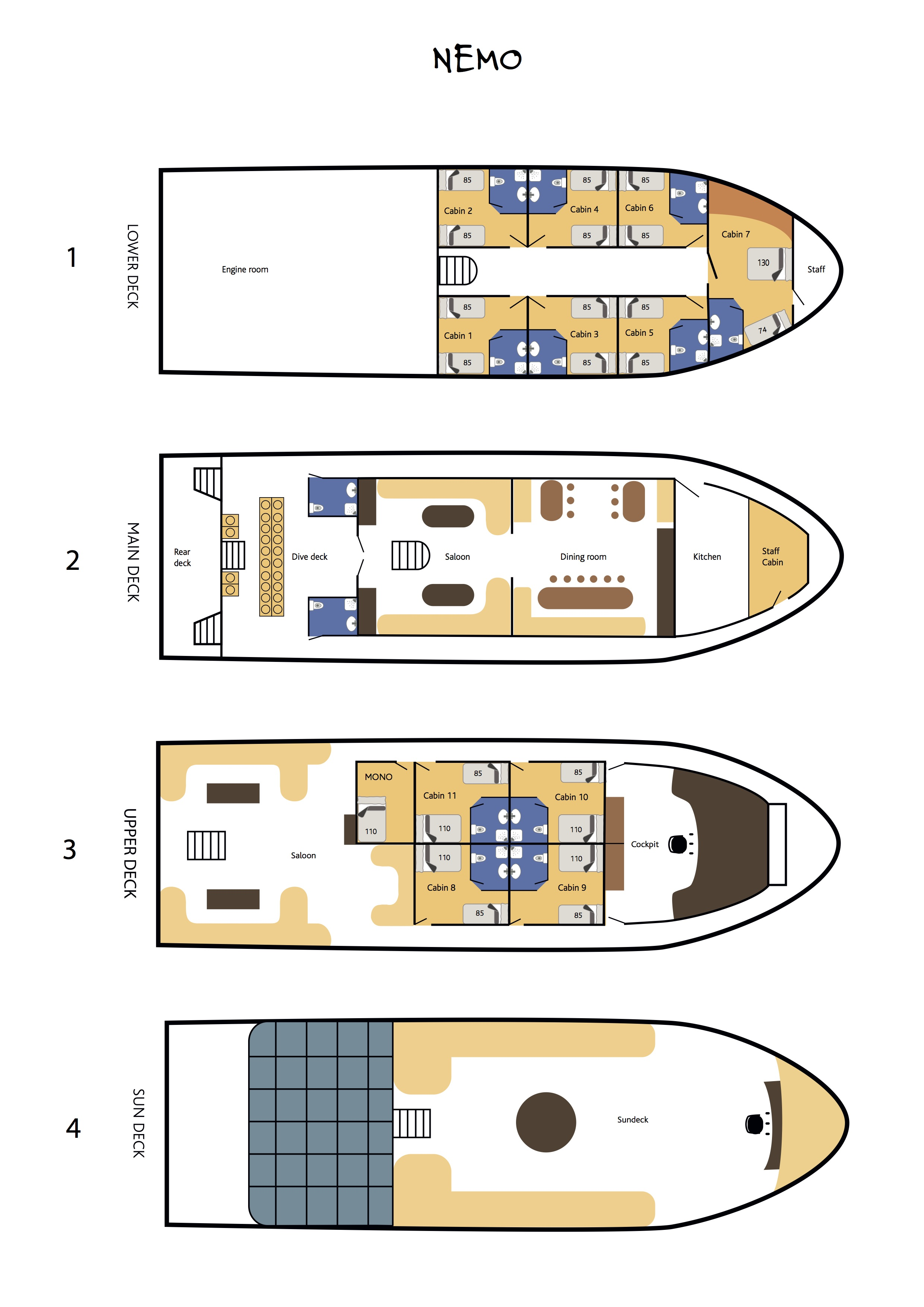 Nemo Deck Plan floorplan
