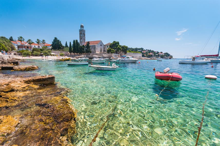 Clear waters of Hvar