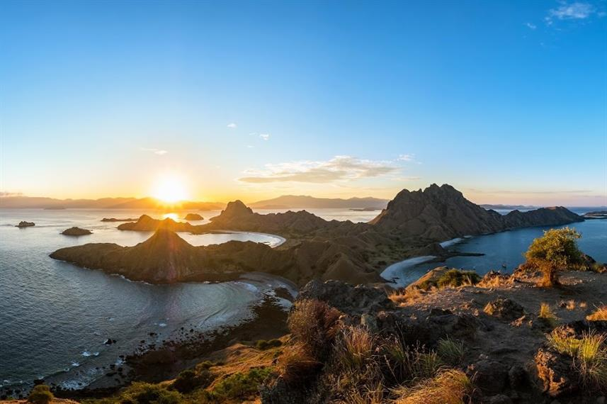 Spectacular sunrise in Komodo