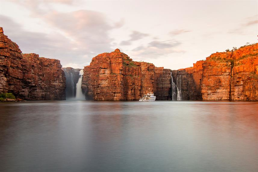 King George Falls at Sunset