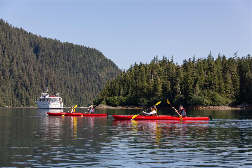 Kayaks an Board - Sea Star Alaska
